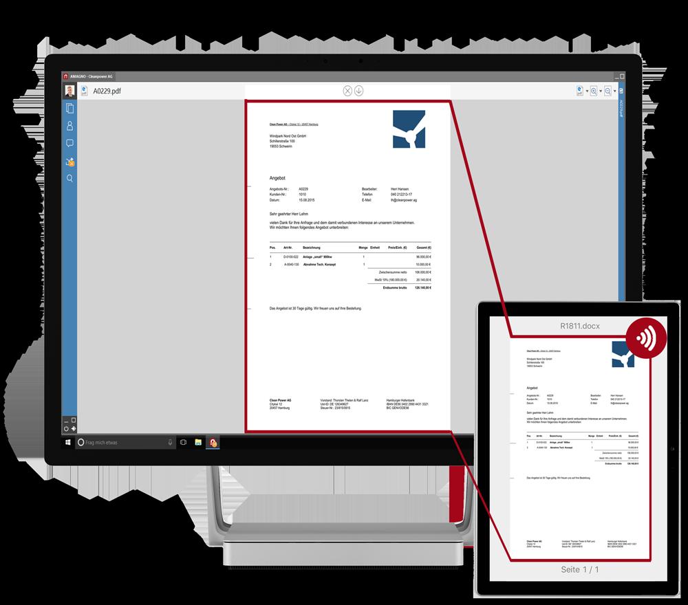 AMAGNO Beam on Microsoft Studio  - AMAGNO Business Cloud Anmeldung