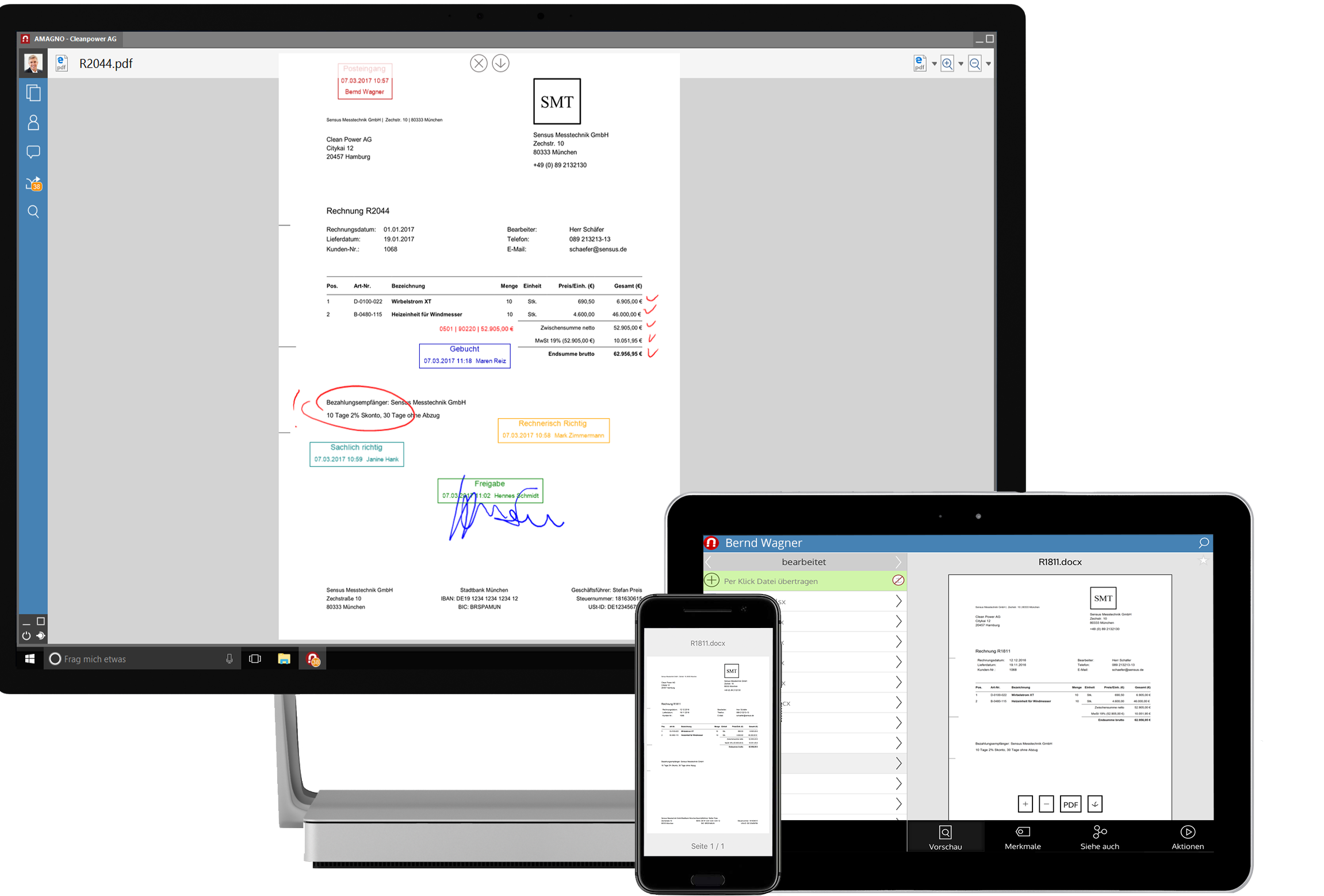 amagno 5 devices studio ipad smartphone  - AMAGNO Client